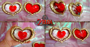 Heart Container and Piece from Twilight Princess by LayzeMichelle