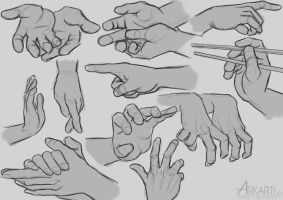 Hand Studies by Arkarti