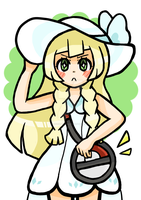 A5-A4 Print Lillie Pokemon Sun and Moon by oFruitTango