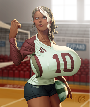 Almendra Volleyball by mangrowing