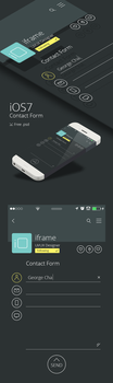 iOS 7 contact form free psd by iframead