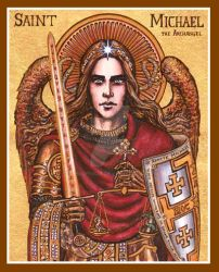 St. Michael icon by Theophilia
