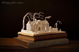 Wuthering Heights book sculpture... by KarineDiot