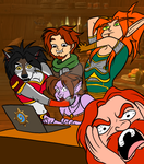 Draw the squad - DON'T LOOK THAT!! by Horned-Lyzz