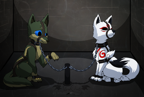 Comm - Caged Wolves VI by VibrantEchoes