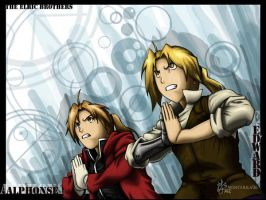 FMA: The Elric Brothers by oOWinterilaOo