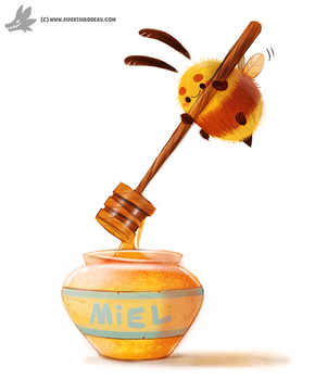 Daily Painting #946. Honeeeey (OG) by Cryptid-Creations