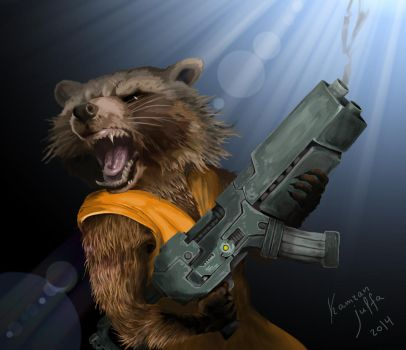 Rocket Raccoon (Guradians of Galaxy) by kamran-julfa