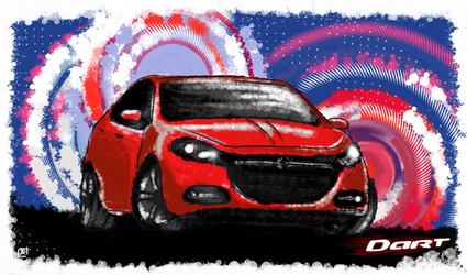 Pop Dodge Dart by ConvictionArt