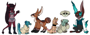 Random adoptables (closed) by Sweetnfluffy-adopts