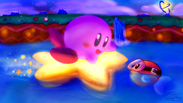 Kirby's Nightly Cruise by SleepingAmbitions