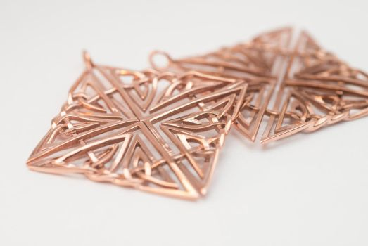 Square Celtic Knot Earrings by electrofilms