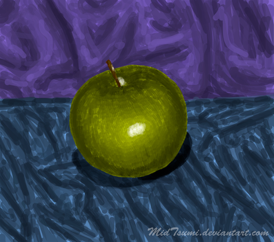 Green apple by MidTsumi