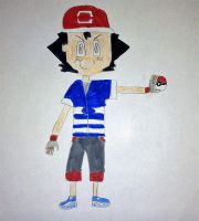 Alola Ash (My design) by SuperSmash6453
