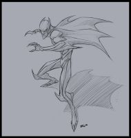 Batman Sketch by shubacca