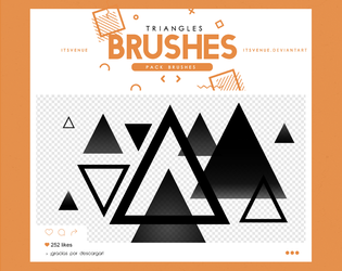 .triangles brushes #9 by itsvenue