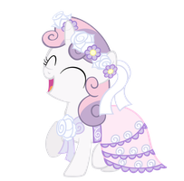 Sweetie Belle the Flower Girl Vector by Avastindy