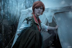 The Witcher 3 Shani cosplay (frame 10) by Lyumos