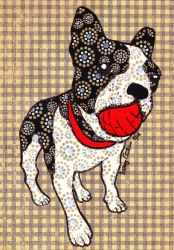 Frenchie with Ball by Destiny-Carter