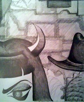 Still Life-Devil and Hat by Verj