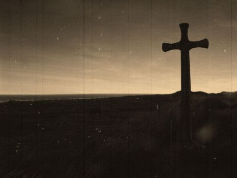 cross and grave by magicmacha