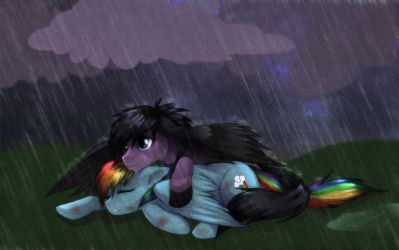 Skywind and Rainbow Dash by RizCifra