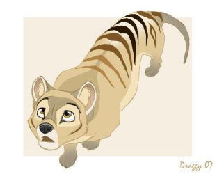 A Thylacine by SarityCreations