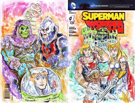 He-Man She-Ra Sketch Cover by mannycartoon