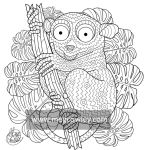 Tarsier (The Exotic Colouring Book)