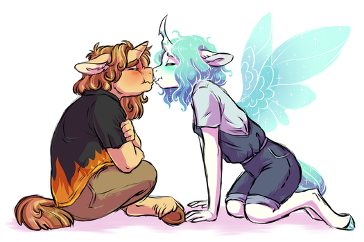 First Kiss by Lopoddity