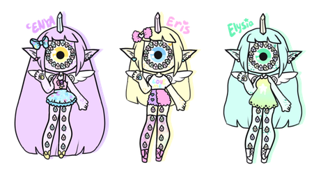 [ Pastel Star Triplets ] by hello-planet-chan