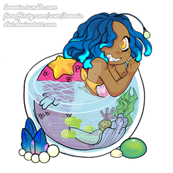 Angler Mermaid and Underwater Terrarium Charm by divi