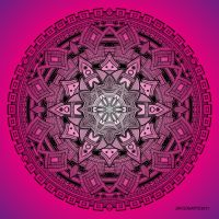 Mandala drawing 25 PINK by Mandala-Jim