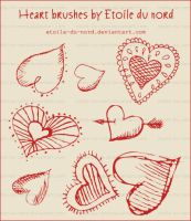 hearts brushes by Etoile-du-nord