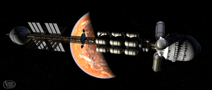 Exploration Starship Resolute by Drell-7