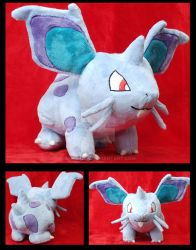Female Nidoran Plushie :Commission: by AppleDew