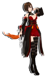 TDA BnS Meiko - 495 Watchers GIFT MMD DL by Meennie46