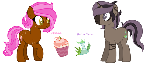 Herbal Brew and Cupcake by AynyeClaer