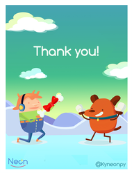 Thank you-postcard by KingNeonHappy