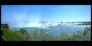 Niagara Falls Panorama by Kezhound
