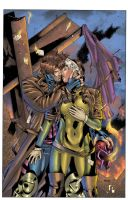 Gambit and Rogue Color by Javilaparra