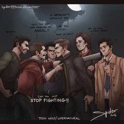 SuperWolf- STOP Fighting by spider999now