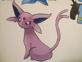 196 Espeon - painting by Crotchmonsoon
