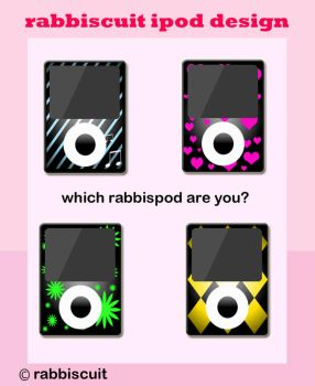 rabbiscuit ipod design by reddishy