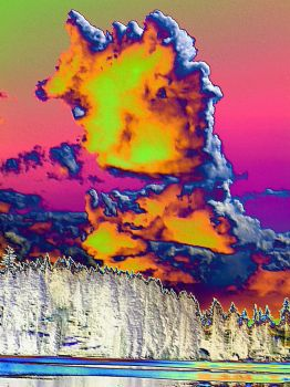 Lake Wilderness Clouds - Roseglow by infin8yquest