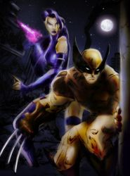 Psylocke and Wolverine by Sandy-reaper