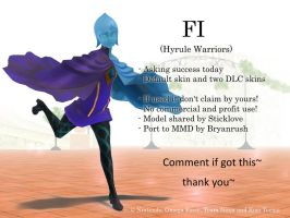 MMD Fi (Hyrule Warriors) DL by Jakkaeront
