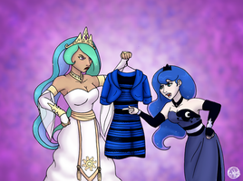 Delayed Dress Reference - Blue Variant by SubduedMoon