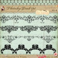 French Borders Brushes 4 by starsunflowerstudio