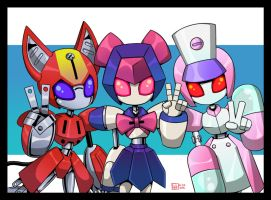 2nd Commission for CaptainChameleon (Medabots) by Lee-Sanixay